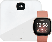 Fitbit Versa 3 Pink Clay/Soft Gold + Fitbit Aria Air White