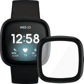 Fitbit Versa 3 Black + PanzerGlass Fitbit Sense, Versa 3 Screen Protector Glass Black