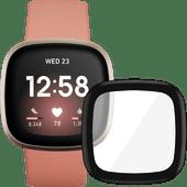 Fitbit Versa 3 Pink Clay/Soft Gold + PanzerGlass Fitbit Sense, Versa 3 Screen Protector Gl