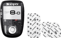 Compex SP 8.0 + Performance Elektrode 5x5cm snap + 5x10cm snap