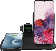 Mophie 3-in-1 Wireless Charger 15W with Stand and Holder for Apple Watch Charger