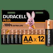 Duracell Alka Plus AA batteries 12 units