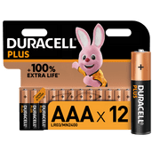Duracell Alka Plus AAA-batterijen 12 stuks