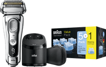 Braun Series 9 9395CC + Braun reinigingsvloeistof Clean & Renew cartridges (5+1 stuks)