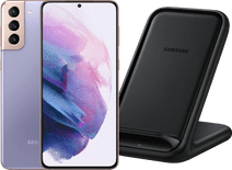 Samsung Galaxy S21 Plus 256GB Paars 5G + Samsung Wireless Charger Stand 15W Zwart