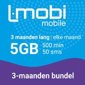 L-mobi simkaart met 3 maanden lang elke maand 5GB, 500 minuten & 50 smsjes