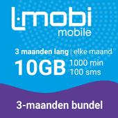 L-mobi simkaart met 3 maanden lang elke maand 10GB, 1000 minuten & 100 smsjes