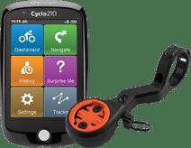 Mio Cyclo 210 Europa + CloseTheGap HideMyBell Regular2 Handlebar Mount