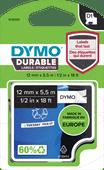 DYMO D1 Hoogpresterend Labeltape Zwart-Wit Label (12 mm x 5,5 m)