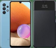 Samsung Galaxy A32 128GB Blauw 4G + Samsung Galaxy A 32 4G S View Book Case Zwart