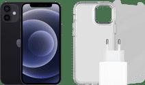 Apple iPhone 12 128GB Zwart + Accessoirepakket Apple iPhone 12 Mini, 12, 12 Pro en 12 Pro Max