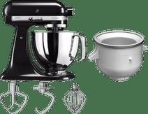 KitchenAid Artisan Mixer 5KSM125 Onyx Black + Ice Cream Maker
