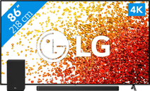 LG 86NANO756PA (2021) + Soundbar LG tv's met NanoCell technologie