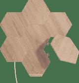 Nanoleaf Elements Wood Look Hexagons Starter Kit 7-Pack