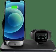 ZENS 3-in-1 Draadloze Oplader 10W met Standaard en MagSafe Magneet Zwart Draadloze oplader voor Apple Watch
