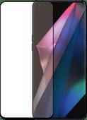 Azuri Curved Tempered Glass Oppo Find X3 Pro Screenprotector Zwart Oppo screenprotectors