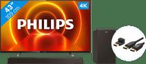 Philips 43PUS7805 - Ambilight + Soundbar + HDMI Cable