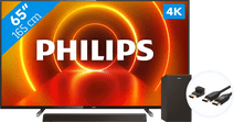 Coolblue-Philips 65PUS7805 - Ambilight + Soundbar + HDMI kabel-aanbieding