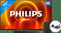Coolblue-Philips 75PUS7805 - Ambilight + Soundbar + HDMI kabel-aanbieding