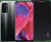 OPPO A74 128GB Zwart 5G + OPPO A74 Book Case Zwart