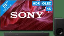 Sony OLED KE-55A8P (2021) + Soundbar Sony 4K UHD tv's