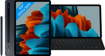 Coolblue-Samsung Galaxy Tab S7 128GB Wifi Zwart + Samsung Toetsenbord Hoes QWERTY Zwart-aanbieding