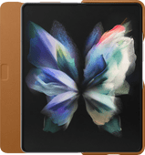Samsung Galaxy Z Fold 3 Book Case Leather Camel
