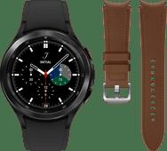 Samsung Galaxy Watch4 Classic 46mm Black + Samsung Leather Strap Brown M/L 20mm