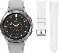 Samsung Galaxy Watch4 Classic 42mm Silver + Samsung Leather Strap White S/M 20mm