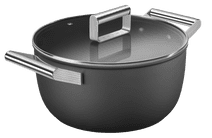 SMEG Kookpan 24 cm Zwart