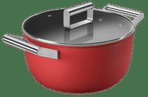 SMEG Kookpan 24 cm Rood