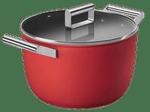 SMEG Kookpan 26 cm Rood