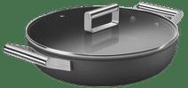 SMEG Hapjespan met deksel 28 cm Zwart