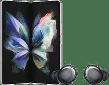 Samsung Galaxy Z Fold 3 512GB Zilver 5G + Samsung Galaxy Buds Pro Zwart