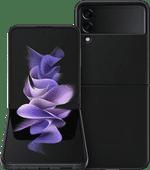 Samsung Galaxy Z Flip 3 128GB Phantom Black 5G + Samsung Back Cover Leather Black