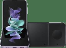 Samsung Galaxy Z Flip 3 256GB Paars 5G + Samsung Draadloze Oplader DUO Pad 9W Zwart