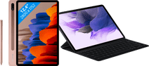 Coolblue-Samsung Galaxy Tab S7 Plus 128GB Wifi Brons + Samsung Toetsenbord Hoes QWERTY Zwart-aanbieding