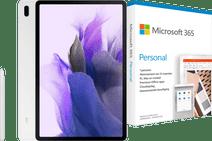 Samsung Galaxy Tab S7 FE 128GB Wifi Zilver + Microsoft 365 Personal NL Abonnement 1 Jaar