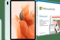 Samsung Galaxy Tab S7 FE 64GB WiFi Green + Microsoft 365 Personal NL Subscription 1 Year