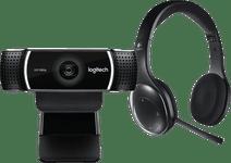 Logitech C922 Pro Stream Webcam + Logitech H800 Stereo Draad Logitech webcams
