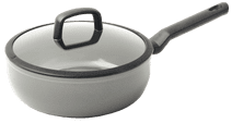 BK Balans High-sided Skillet with Lid 24cm Gray High-sided skillet