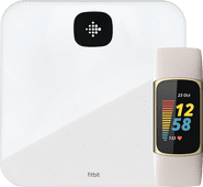 Fitbit Charge 5 Wit/Goud + Fitbit Aria Air Wit Fitbit Charge 5