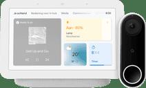 Google Nest Hello + Nest Hub 2 Chalk