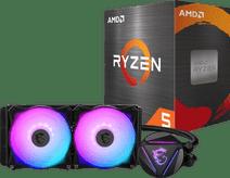 AMD Ryzen 5 5600X + MSI Coreliquid 240R processorkoeler