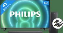 Philips 43PUS7906 - Ambilight (2021) + Soundbar + Hdmi kabel