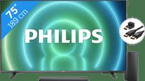 Philips 75PUS7906 - Ambilight (2021) + Soundbar + Hdmi kabel