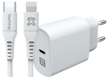 XtremeMac Power Delivery Oplader 20W + Lightning Kabel 1,5m Kunststof
