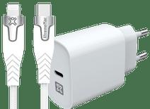 XtremeMac Power Delivery Oplader 20W + Lightning Kabel 2m Nylon Wit