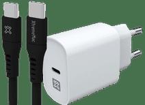 XtremeMac Power Delivery Oplader 20W Wit + Usb C Kabel 1,5m Kunststof Zwart