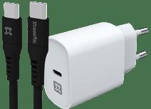 XtremeMac Power Delivery Oplader 30W Wit + Usb C Kabel 1,5m Kunststof Zwart